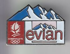 RARE PINS PIN'S .. OLYMPIQUE OLYMPIC ALBERTVILLE 92 EAU WATER EVIAN ALPES ~17