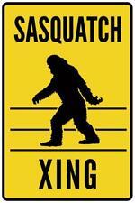 Warning Sign Sasquatch Crossing Cool Wall Decor Art Print