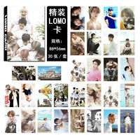 NEW 30pcs set Kpop EXO Collective Fiji Photo Picture Poster Lomo Card