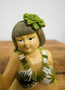 Dekofigur mollige Frau im Kleid Retro dicke Lady lustige Deko 21cm