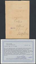 DSW Posteinlieferschein Form erstes Exemplar 1903 Karibib Befund (S15421)