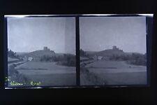 Château de Murat Auvergne Photo stéréo négatif sur film souple 1914