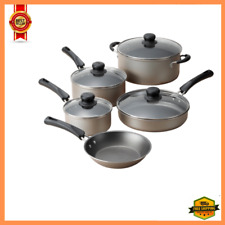 9 Piece Cookware Set Nonstick Pots  Pans Home Kitchen Cooking Non Stick, NEW