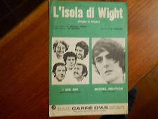 spartito partituras sheet music  DIK DIK michel Delpeche L'isola di wight 1970