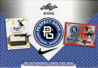 2016 Leaf Perfect Game National Showcase Baseball Sealed HOBBY BOX (25 Autos!)