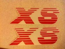 Stickers autocollants monogramme Peugeot 205 XS rouge red