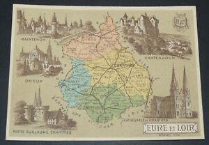 CHROMO BON-POINT HACHETTE 1885 FRANCE EURE & LOIR CHARTRES DREUX CHATEAUDUN