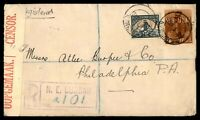 South Africa to US Durban Registered Censored WWII 1942 cover