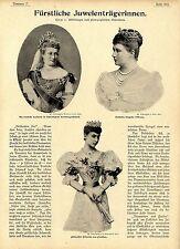 Juwelen Schmuck Deutsche Kaiserin Fürstin Heinrich Pleß Alexandra v.Wales...1899