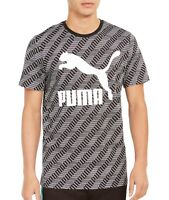 Puma Mens T-Shirt White Black Size XL Logo Crewneck Classic Graphic Tee $30 128