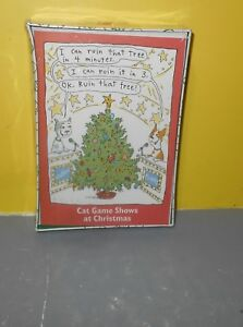 Hallmark Shoebox Xmas Cat Game Shows At Christmas Sealed Box of 20 cards