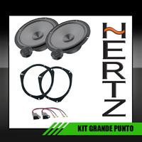 HERTZ GRANDE PUNTO KIT 4 CASSE 2 WOOFERS E 2 TWETEER + SUPPORTI