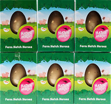Set of 6 Grow Your Own Farm Yard  Animals Hatching Novelty Eggs