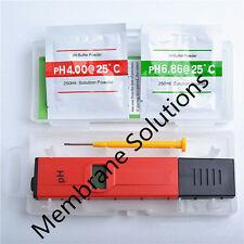 Red Mini LCD Digital PH Meter Tester Pen with Waterproof Aquarium Pool
