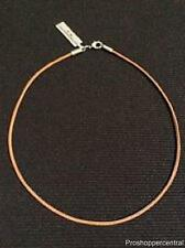 "NEW Bico Brown Leather 20"" Choker Necklace"