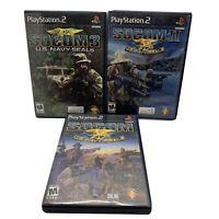 PS2 SOCOM U.S. Navy SEALs CIB Game Lot: 1 + 2 + 3 (I + II + III) (Playstation 2)