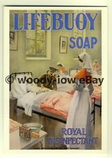 ad3439 - Lifebuoy Soap - World War Hospital Ward -  Modern Advert Postcard