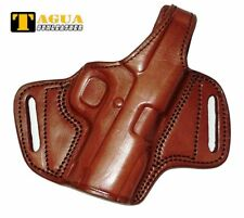"""Para Elite Executive 1911 Barrel Holster 3"""" Brown Leather Belt Right BH1-207"""