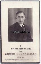 Doodsprentje oorlogsslachtoffer Vandewalle ° Sint-Eloois-Winkel + Roeselare 1940