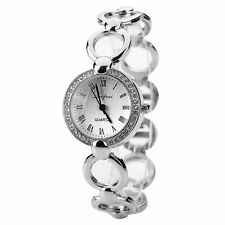 Luxury Women Stainless Steel Crystal Bracelet Quartz Dress Classic Wrist Watch