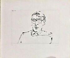 Arikha Avigdor Portrait of Aldo Crommelynck  Hand signed and numbered 6/30