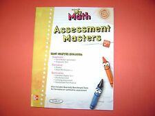 Teacher's Edition My Math Assessment Masters With Answer Keys Grade K