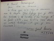 ENVOI AUTOGRAPHE / H COMME HUMOUR  1500 mots d'esprit Jean Paul Lacroix