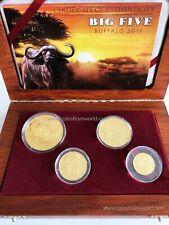 Cameroon 8.500 Francs 2016 Big Five Series Buffalo Set 4 Gold Proof Coins