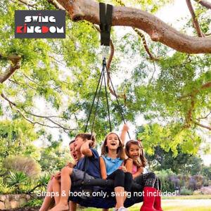 Swing hanging straps & hooks for tree beam 1m long (Pair)