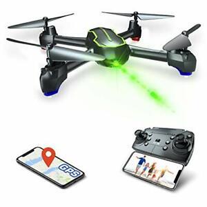 Kameradrohne Asbww GPS HD Drohne 1080p RC Quadrocopter Live Übertragung schwarz