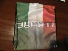 Ducati motor cycle bike  custom print beach bag novelty back pack man cave Biker