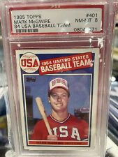 New listing 1985 Topps Mark McGwire #401 Baseball Card PSA 8 RC