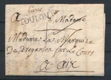 1770 Lettre Lenain N°1A Hières Manus. + TOULON N°10 VAR(78) Superbe X2754