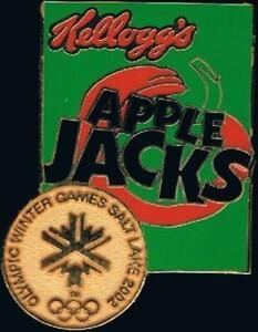 2002 Salt Lake City Kellogg's Apple Jacks Olympic Games Mark Sponsor Pin
