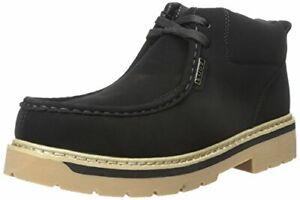 Lugz Strutt LX Boots Black Gum Shoes Memory Foam Insole Mens 10.5 US New
