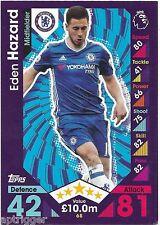2016 / 2017 EPL Match Attax Base Card (68) Eden HAZARD Chelsea
