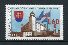 Slovakia 2017 MNH Slovakian Republic 25th Anniv 1v Set Architecture Flags Stamps