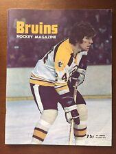 Boston Bruins Official Program 1/31/1974 vs. Atlanta Flames