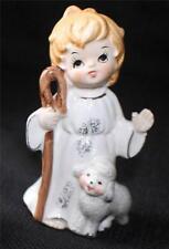 "Vintage Josef Originals Japan Shepherd Boy w Lamb 4 1/2""h Figurine"