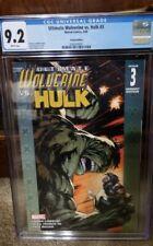 Ultimate Wolverine Vs Hulk #3 by DANON LINDELOF [ADAM KUBERT VARIANT] CGC 9.2