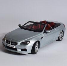 Paragon BMW m6 Cabriolet Année de construction 2012 in argent laqué, 1:18, NEUF dans sa boîte, k008