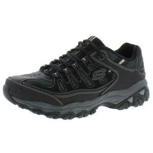 Skechers Mens After Burn Black Casual Shoes Sneakers 11 Medium (D) BHFO 2615