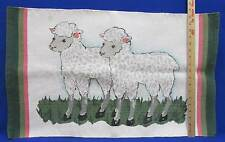 Sheep Floor Rug Grazing Lambs on Grass 30 x 18 Kitchen Easter Spring Decorative