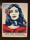 """Shepard Fairey """"We the People"""" Silkscreen Print Signed & Numbered 18"""" X 24"""""""