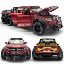 1:28 X-Class 6x6 Pickup Truck Model Car Diecast Toy Vehicle Kids Pull Back Red