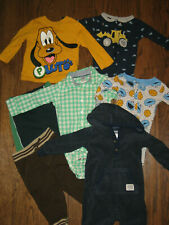 lot boys infant 12 month months 1 piece outfits tops pants pjs Carter's