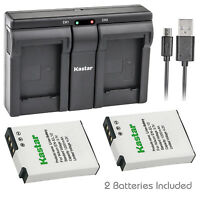 Kastar EN-EL12 battery charger for Nikon AW120s P300 P310 P330 P340 S31 S70 S610