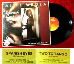 Maxi Al Di Meola: Spanish Eyes (CBS 12.8946) NL 1980 (performed w/ Les Paul)