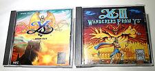 Ys Book 1 & 2 and Ys 3 Wanderers from Ys TurboGrafx 16 CD Nihon Falcom Originals