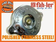 FIAT 128 IN ACCIAIO INOX LUCIDO RADIATORE RAD CAP 13lb